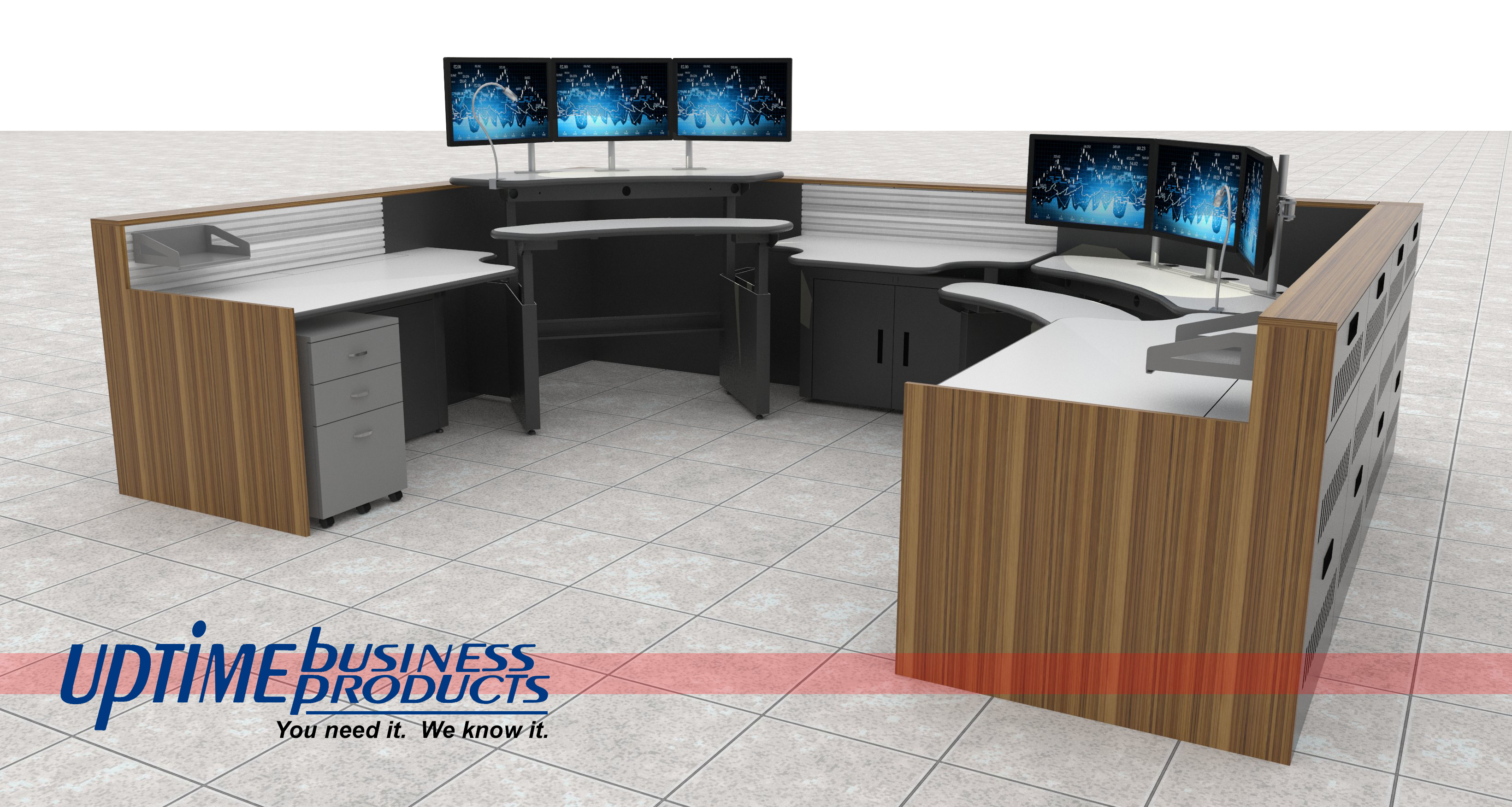 Control Room Furniture Property multi position control room console | uptime business products