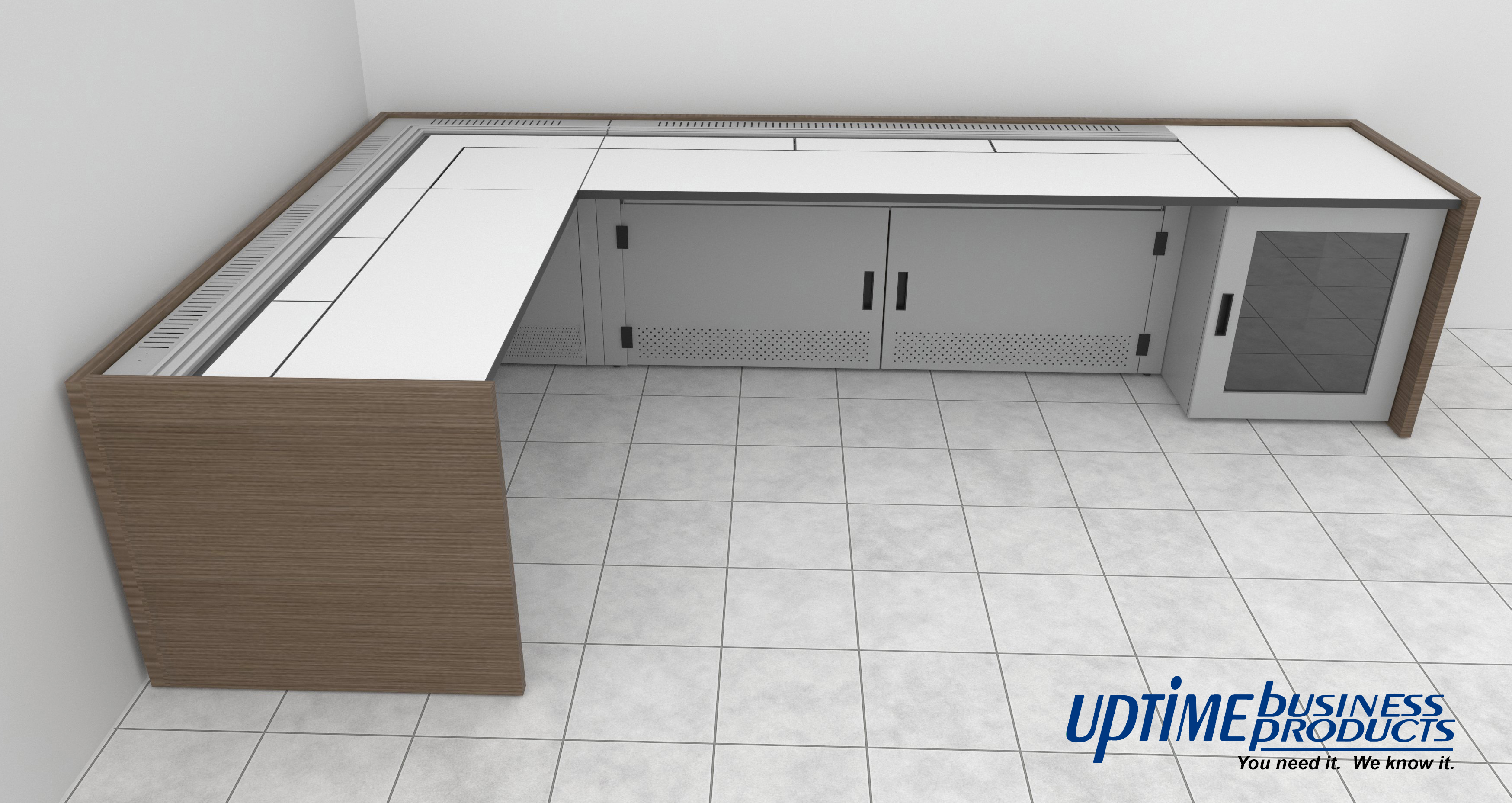Control Room Furniture Property l-shaped control room console | uptime business products
