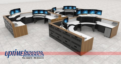 Multi Position Control Room Console Array